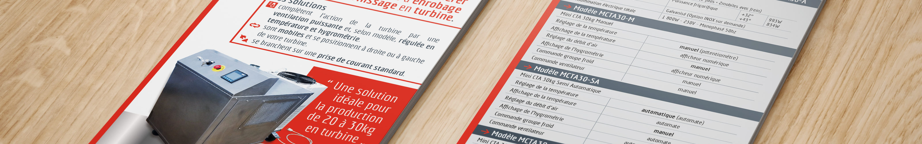Plaquette de présentation de la solution Mini CTA conçue par AT-Concept.