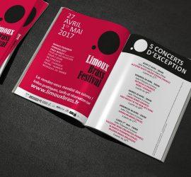 Encart publicitaire pour l'édition 2017 du Limoux Brass Festival 2017