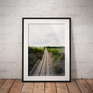 Lignes – Castelnau de Montmiral (Tarn) 20x30cm