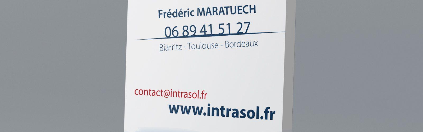 Roll-up Intrasol, bureau d'études de sols Toulouse
