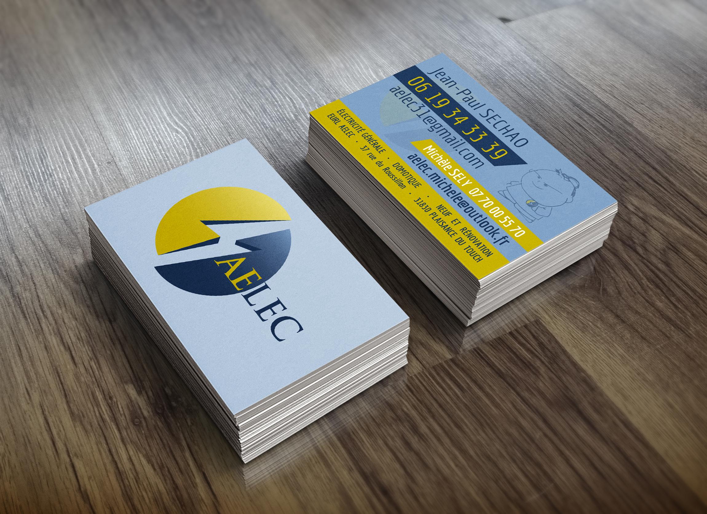 Carte De Visite Pour AELEC Electricite Generale A