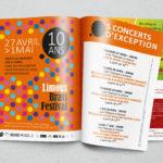 Encart dans un journal local pour le Limoux Brass Festival