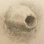 Dessin d'observation au crayon gris