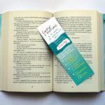 Marque page, bookmarker pour Le Cabinet d'Ecritures d'Elise Vandel à Toulouse